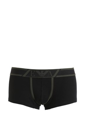 RIBBED STRETCH JERSEY BOXER BRIEFS