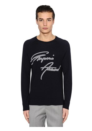 SIGNATURE WOOL JACQUARD SWEATER