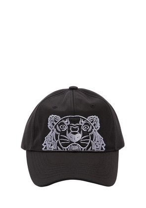 TIGER EMBROIDERED NYLON CANVAS HAT