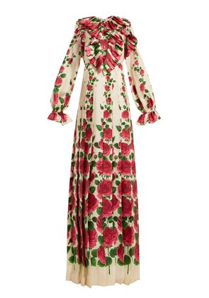 Le Jardin de Rose silk-twill dress