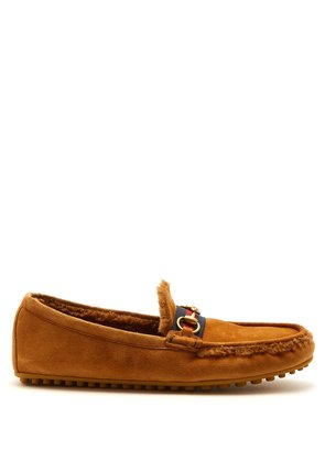 Shearling-lined driving loafers