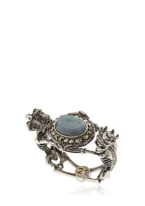 SKELETON QUEEN & KING LABRADORITE RING