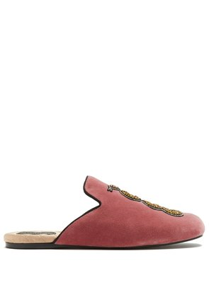 Lawrence velvet slipper shoes