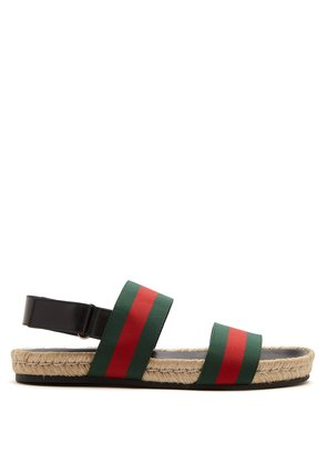 Web-stripe sandals