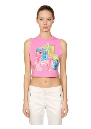 LITTLE PONY STRETCH COTTON CROP TOP