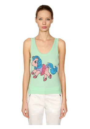 LITTLE PONY SLEEVELESS INTARSIA KNIT TOP