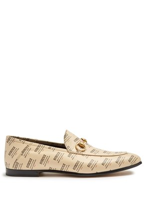 Brixton logo-print leather loafers