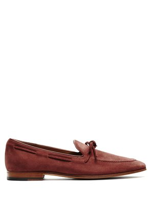 Round-toe suede loafers