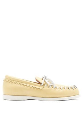 Paco leather deck shoes