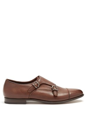 Montana double monk-strap leather shoes
