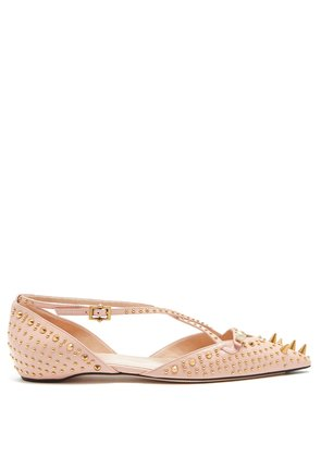 Unia studded leather flats
