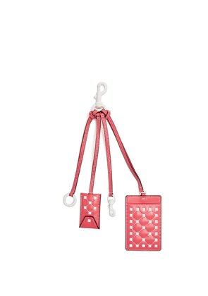 Free Rockstud leather cardholder key ring