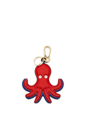 Octopus leather key-ring