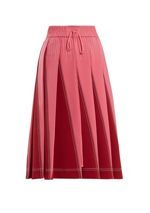 A-line pleated jersey skirt