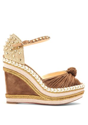 Madcarina 120 suede wedge platforms