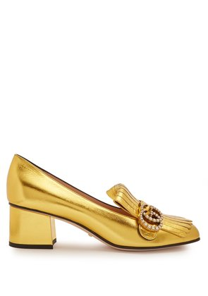 Marmont fringed leather loafers
