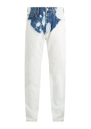 Bleached straight-leg jeans