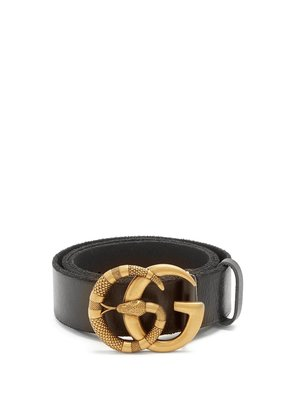 GG snake-buckle leather belt