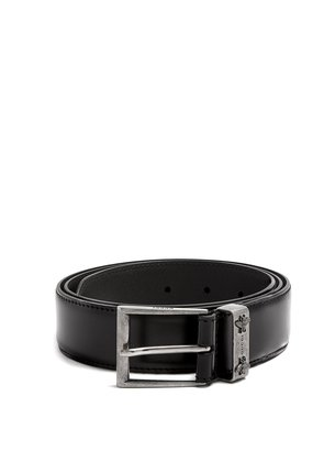 Bee-embossed leather belt