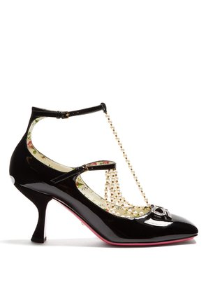 Taide crystal-embellished patent-leather pumps