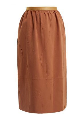 Olivier creased-crepe skirt