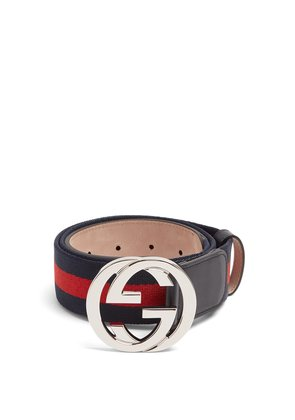 GG-buckle canvas belt