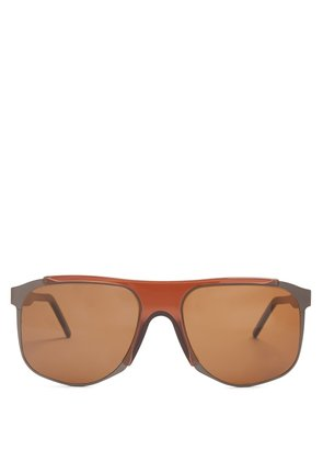 Dimitri square-frame acetate sunglasses