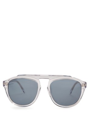 Hazel aviator acetate sunglasses