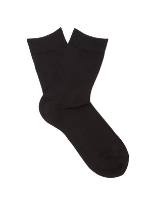 Cotton-blend ankle socks