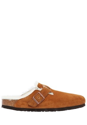 BOSTON SHEARLING & SUEDE MULES