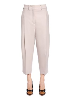 CROPPED VIRGIN WOOL STRETCH PANTS