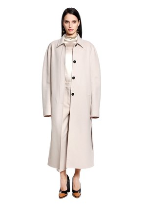 BELTED VIRGIN WOOL & CASHMERE COAT