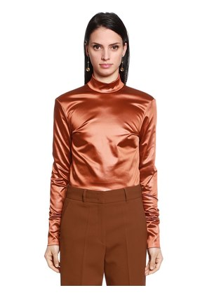 STRETCH SATIN SHIRT