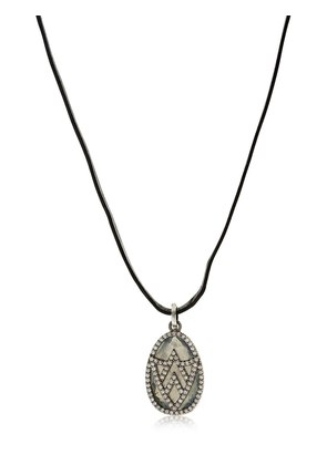 CHEVRON SHIELD DIAMOND PENDANT NECKLACE