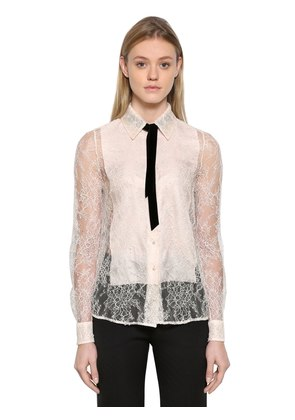 DENTELLE CHANTILLY LACE SHIRT