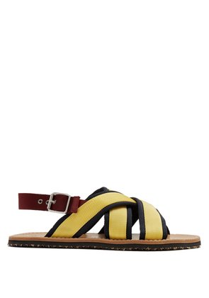 Crossover canvas sandals