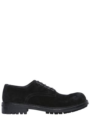 STONE WASHED SUEDE DERBY LACE-UP SHOES