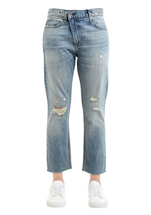 WICKED DISTRESSED COTTON DENIM JEANS