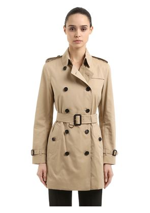 KENSINGTON MID COTTON TRENCH COAT