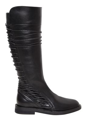 20MM LACE UP LEATHER BOOTS