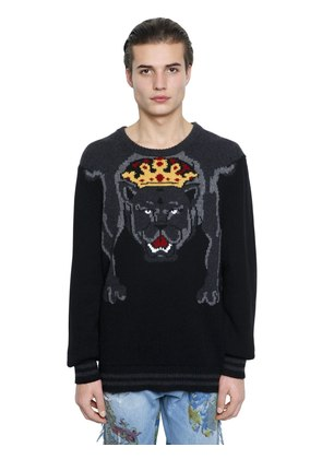PANTERA INTARSIA WOOL KNIT SWEATER