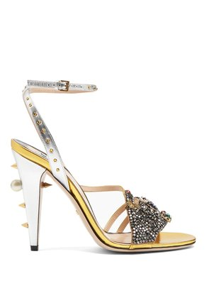 Wangy embellished leather sandals