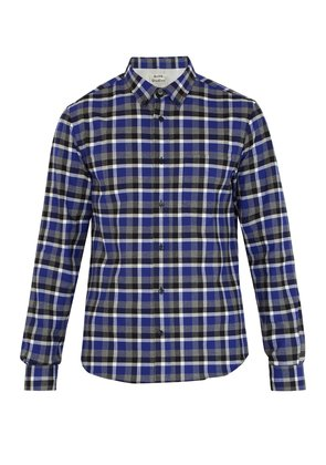 Isherwood point-collar checked cotton shirt