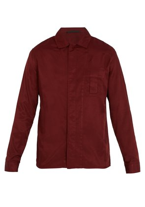 Single-cuff cotton-blend shirt