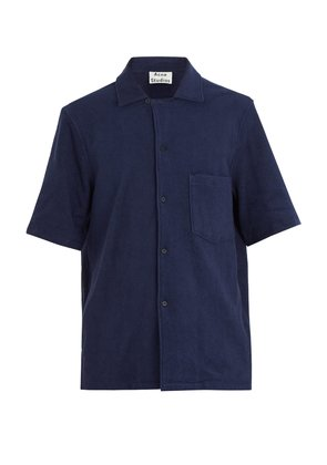 Jef terry-towelling cotton shirt