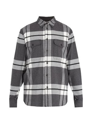 Jack checked cotton-flannel shirt