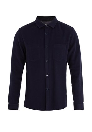 Fitz single-cuff wool-blend felt shirt