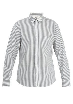 Isherwood point-collar striped cotton shirt