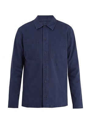 Franckie point-collar cotton overshirt