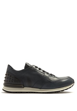Low-top leather trainers